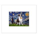 Starry / Saint Bernard Small Poster