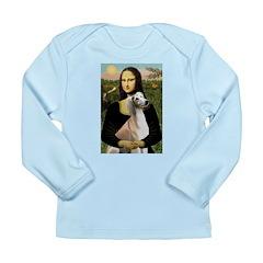 Mona Lisa (new) & Saluki Long Sleeve Infant T-Shir