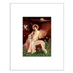 Seated Angel / Saluki Small Poster