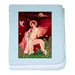 Seated Angel / Saluki baby blanket