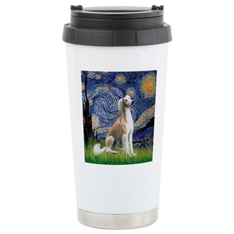 Starry Night / Saluki Stainless Steel Travel Mug