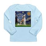 Starry Night / Saluki Long Sleeve Infant T-Shirt