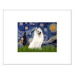Starry / Samoyed Small Poster