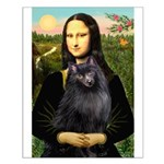 Mona / Schipperke Small Poster