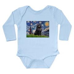 Starry / Schipperke #2 Long Sleeve Infant Bodysuit