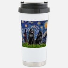 Starry / Schipperke Pair Thermos Mug