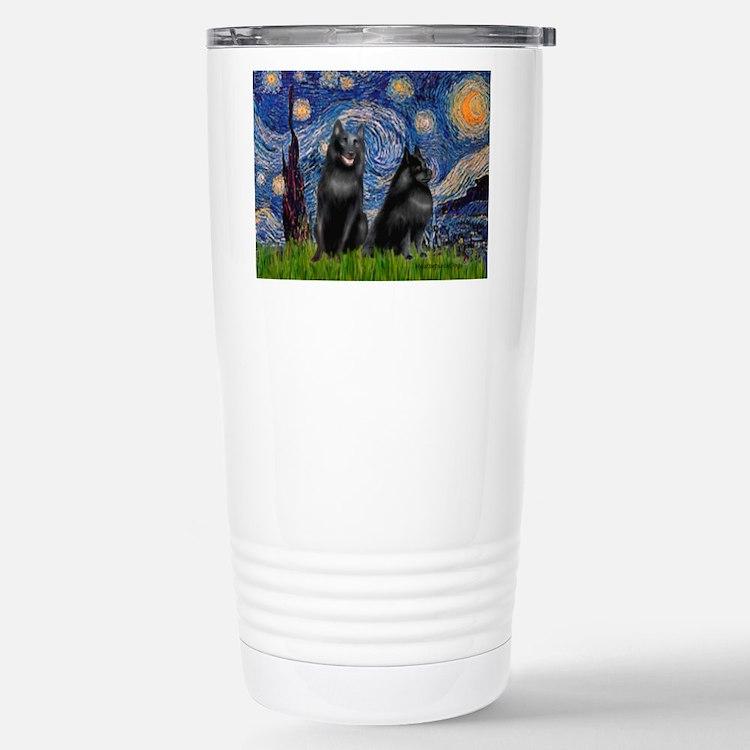 Starry / Schipperke Pair Travel Mug