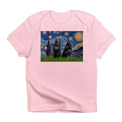 Starry / Schipperke Pair Infant T-Shirt