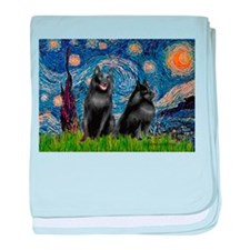 Starry / Schipperke Pair baby blanket
