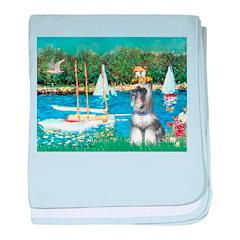 Sailboats /Min Schnauzer baby blanket