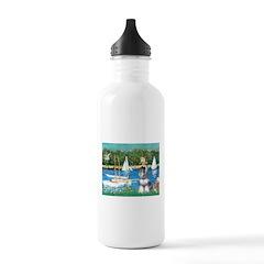 Sailboats /Min Schnauzer Water Bottle