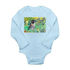 Irises / Miniature Schnauzer Long Sleeve Infant Bo