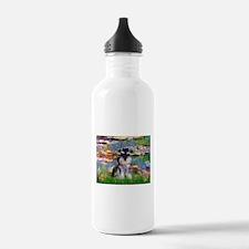 Lilies (#2)/Schnauzer Pup Water Bottle
