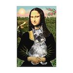 Mona Lisa's Schnauzer (#1) Mini Poster Print