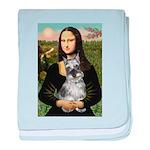 Mona Lisa's Schnauzer (#1) baby blanket