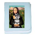 Mona Lisa's Schnauzer (#6) baby blanket