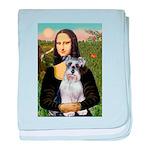 Mona Lisa/Schnauzer (#2) baby blanket