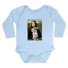 Mona Lisa/Schnauzer (#2) Long Sleeve Infant Bodysu
