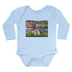 Lilies / M Schnauzer Long Sleeve Infant Bodysuit