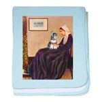 Whistler's Mother /Schnauzer baby blanket