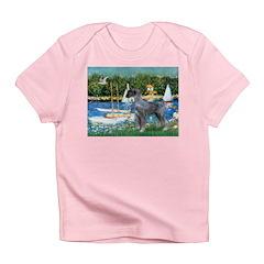 PS G. Schnauzer & Sailboats Infant T-Shirt