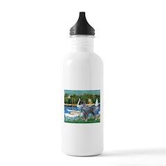PS G. Schnauzer & Sailboats Water Bottle