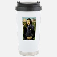 Mona Lisa /giant black Schnau Travel Mug
