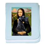 Mona Lisa /giant black Schnau baby blanket