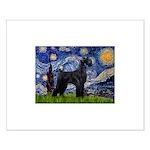 Starry Night / Schnauzer Small Poster