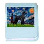 Starry Night / Schnauzer baby blanket