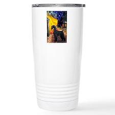 Cafe & Giant Schnauzer Travel Mug