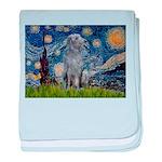 Starry /Scot Deerhound baby blanket