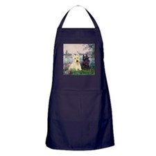 Seine / Scotties (b&w) Apron (dark)
