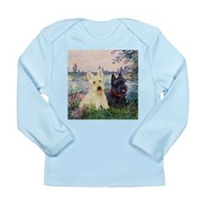 Seine / Scotties (b&w) Long Sleeve Infant T-Shirt