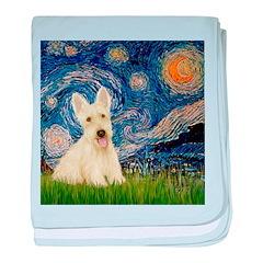 Starry Night / Scottie (w) baby blanket