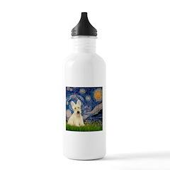 Starry Night / Scottie (w) Water Bottle