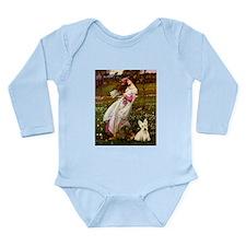 Windflowers / Scottie (w) Long Sleeve Infant Bodys
