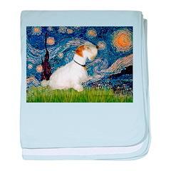 Starry Night/Sealyham L1 baby blanket