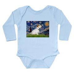 Starry Night/Sealyham L1 Long Sleeve Infant Bodysu