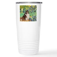 Irises / Sheltie Travel Mug