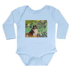 Irises / Sheltie Long Sleeve Infant Bodysuit
