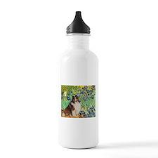 Irises / Sheltie Water Bottle