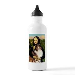 Mona Lisa / Sheltie (s&w) Water Bottle