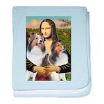 Mona Lisa / 2 Shelties (DL) baby blanket