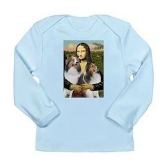 Mona Lisa / 2 Shelties (DL) Long Sleeve Infant T-S