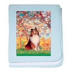 Spring / Sheltie (#1) baby blanket