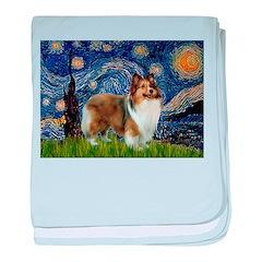 Starry / Sheltie (s&w) baby blanket