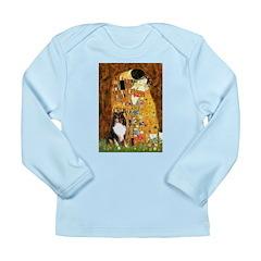 Kiss/Tri Color Sheltie Long Sleeve Infant T-Shirt
