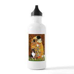 Kiss/Tri Color Sheltie Water Bottle