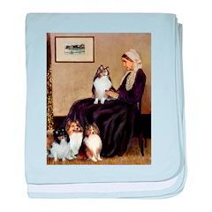 Whistler's / 3 Shelties baby blanket
